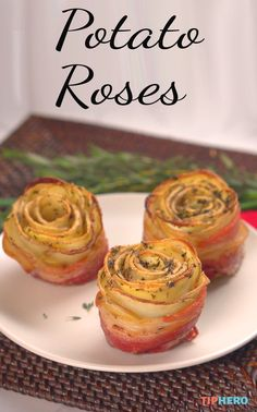 Potato Roses | Remember those apple roses? Now we're trying it with potatoes— and a little bacon for some extra yum. Click to watch the video and try it yourself!