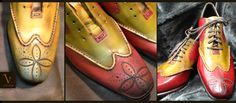 The #Red #Golf #Sneakers By Vénénaré.  Before and After the Atelier Handcrafted #Patina