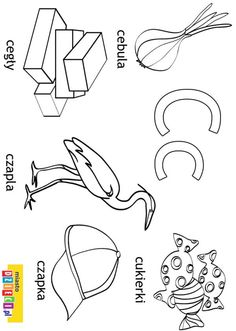 Kolorowanki, malowanki dla dzieci do druku. Alfabet - litera C Polish Language, Alphabet Tracing, Montessori, Activities For Kids, Coloring Pages, Diy And Crafts, Writing, Education, Double Deck Bed