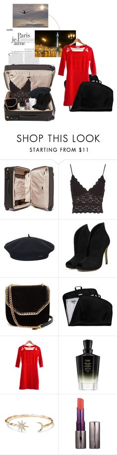 """""""Pack and Go: Paris Fashion Week"""" by blossomsmilesome ❤ liked on Polyvore featuring Tumi, Element, STELLA McCARTNEY, Ricardo Beverly Hills, BB Dakota, Oribe, Spartina 449, Urban Decay, parisfashionweek and Packandgo"""