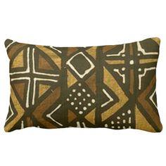 Kenyan Mud Cloth Pattern Pillow