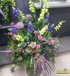 Outdoor planter arrangement.