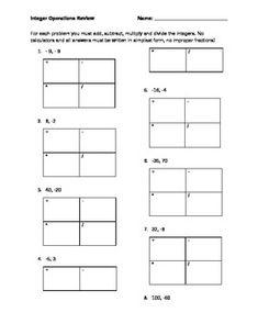 Multiplying and Dividing Integers Color Worksheet  Of Worksheets