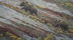 Robert Bateman - Alaskan Autumn - This is one of more than works of art offered by ArtUSA, The World's Source for Collectible Art. Toll-free or Duck Art, Batman, Bear Art, Animal Sketches, Modern Artists, Outdoor Art, Canadian Artists, Nature Paintings, Wildlife Art