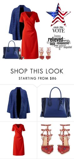"""""""Go Vote"""" by margaretkellogg on Polyvore featuring Maje, Longchamp, Lands' End, Valentino and Mary Kay"""