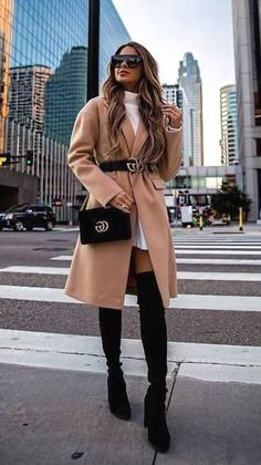 Stylish Fall Outfits to Copy in 2018 - Hi Giggle! - Stylish Fall Outfits to Copy in 2018 – Hi Giggle! 19 Stylish Fall Outfits to Copy in 2018 Glamouröse Outfits, Winter Fashion Outfits, Cute Casual Outfits, Look Fashion, Stylish Outfits, Sweater Outfits, Fashion Coat, Women's Casual, Casual Fall