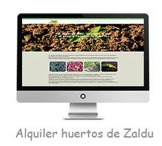 Alquiler de huertos Zaldu. Portada. Portada de la web