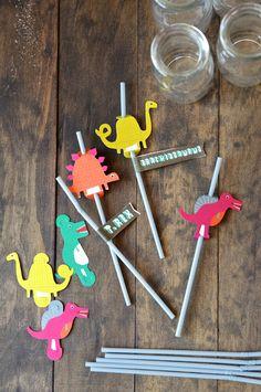 Dino straws from Land of Nod.