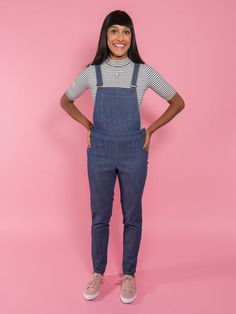 MILA DUNGAREES sewing pattern | Tilly and the Buttons