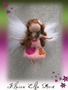 Ava - Needle Felted Wool  fairy girl , Flower fairy, Waldorf inspired fairy doll, wool