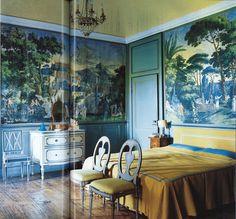 Viyet Design Inspiration | Bedroom | Tropical Wallpaper