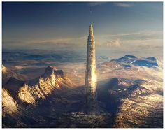 A glipse of skyscrapers of the Future - De Standaard