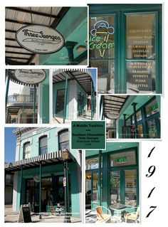Three Georges Chocolate shop in downtown Mobile, Alabama photographed by Renee Dent Blankenship of theRDBcollection