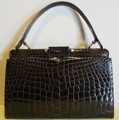 59c43783c720 Fab vintage crocodile leather handbag by HeavenlyVintageBags, Vintage Bags, Vintage  Leather, Hermes Kelly