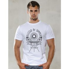 Blessed by Summer t-shirt Summer Tshirts, Funny Tshirts, Blessed, Mens Tops, Cotton, T Shirt, Stuff To Buy, Clothes, Fashion
