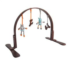 This beautifully modern, wooden activity gym has dangling organic cotton toys and rattles. $135