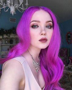 bright purple hair More - Bright Purple Hair, Violet Pastel, Hair Color Purple, Cool Hair Color, Pink Hair, Violet Hair, White Hair, Neon Hair, Coloured Hair