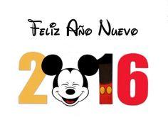 Feliz año nuevo 2016¡ Mickey Mouse