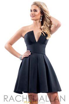 Rachel Allan Short Strapless Dress L1038