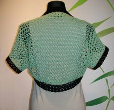 Bolero from bamboo yarn