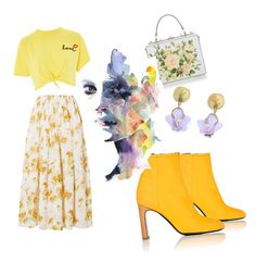 """Hello Yellow"" by georgiaskop on Polyvore featuring Brock Collection, rag & bone, Dolce&Gabbana, Topshop and Michael Michaud"