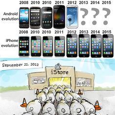 The iPhone Revolution over the years!?! lol