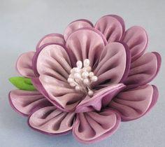 Spring Lavender Tsumami Kanzashi Flower Bloom