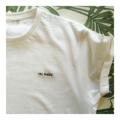 The Yas Queen T-shirt  hand embroidered t-shirt Diy Embroidery Designs, Embroidered Clothes, Embroidered Tops, Diy Roupas, Shirt Embroidery, Embroidery Stitches, Summer Shirts, T Shirt Diy, Mom Shirts
