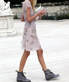 #DrMartens and a light floral dress