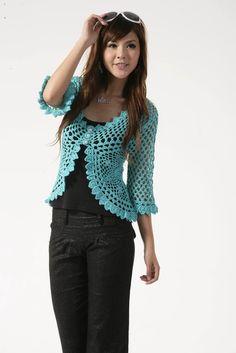 blusinha estilo colete de manga longa