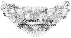 Broken Heart with Wings Tattoo | heart with wings design by ~cynthiardematteo on deviantART