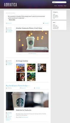 Adriatica WordPress Tumblr Style Theme