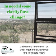 In need of some Clarity? Call us for a free quote today :) Burglar Bars, Security Solutions, Free Quotes, Clarity, Twitter