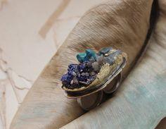 adjustable double ring specimen statement ring raw gemstone tibetan quartz sterling size 7 Double Ring, Raw Gemstones, Statement Rings, Sapphire, Rocks, Quartz, Jewels, Purses, Trending Outfits