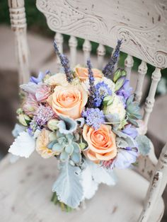 Captured by Sposto Photography, this California wedding had a soft color palette of lavender, violet, peach, cream and gray. Wedding Flower Arrangements, Flower Centerpieces, Wedding Bouquets, Wedding Mandap, Wedding Stage, Wedding Receptions, Floral Arrangements, Floral Wedding, Wedding Flowers
