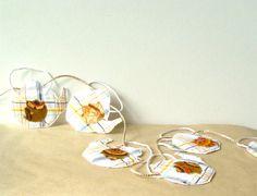 MINI BUNTING Textile Teapots quilted appliqued by BozenaWojtaszek, $32.00