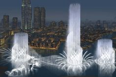 The Dubai Fountain, one of the world's most spectacular fountain  These are amazing can't wait to see them again in a few weeks