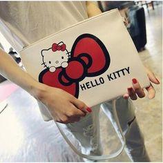 bb25710bd Women Hello Kitty Messenger pochette sac femme obag mickey cartoon fashion  cute hand with single shoulder slanted evening bag