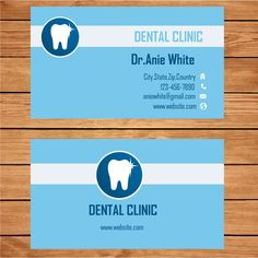 Microsoft Publisher Clinic Dentist Business Card Template