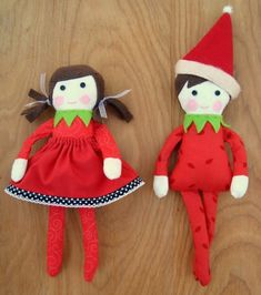 Sew up a boy or girl with the free elf on the shelf doll pattern. More patterns coming for this quick handmade series.