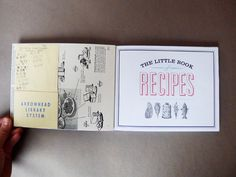 The Little Book of Recipes by Anne Mauser, via Behance