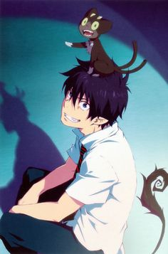 Imagine if Kuro transformed into his big version, while still on top of Rin's head.