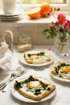 Puff Pastry Egg and Kale Bakes