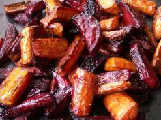 Roasted Beets And Carrots Recipe - Food. Carrot Recipes, Vegetable Recipes, Vegetarian Recipes, Cooking Recipes, Healthy Recipes, Roast Recipes, Recipes For Beets, Zone Recipes, Roasted Beets And Carrots