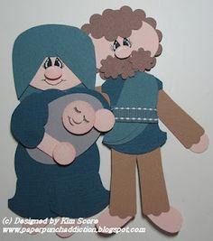 Paper Punch Addiction: Baby Jesus, Mary & Joseph