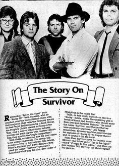 Survivor featured in Teen Talk (March 1985)