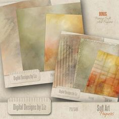 Simple and Fancy Soft Art Papers