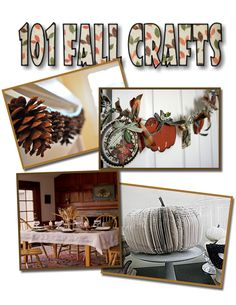 It's Written on the Wall: 101 Fall Craft Ideas That You Can Make...Nice!
