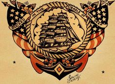 rocked in the cradle of the deep tattoo_Traditional_Nautical