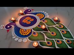 Easy Rangoli Designs Videos, Rangoli Designs Simple Diwali, Free Hand Rangoli Design, Small Rangoli Design, Colorful Rangoli Designs, Rangoli Ideas, Beautiful Rangoli Designs, Best Rangoli For Diwali, Best Rangoli Design